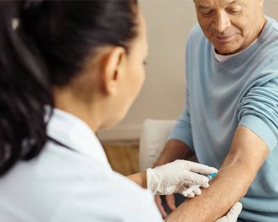 a patient getting blood test